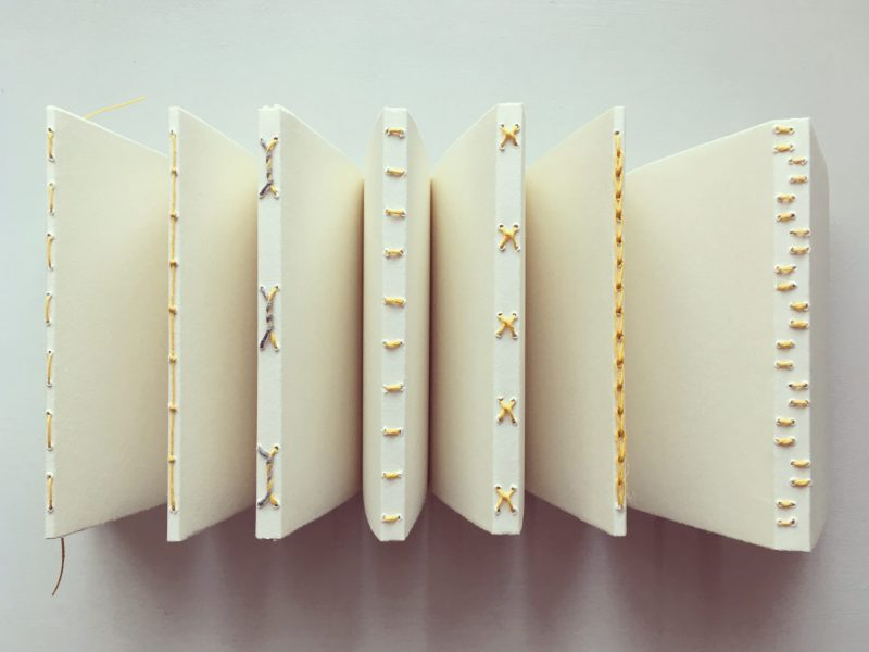 Shetland Text and Texture bookbinding workshop