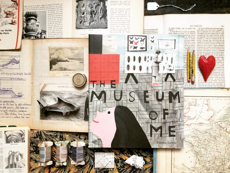 The Museum of Me, Emma Lewis, Tate Publishing. Flat lay by Rachel Hazell, The Travelling Bookbinder