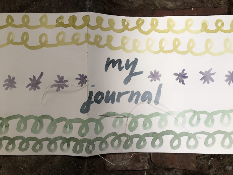 Make a journal - step eleven - nearly there