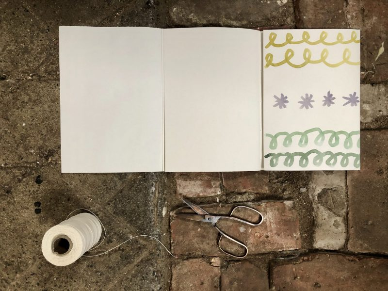 Make a journal - step sixteen - fold the cover flap in