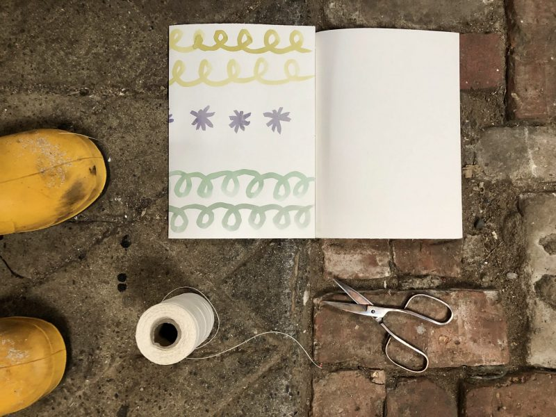Make a journal - fold second cover flap