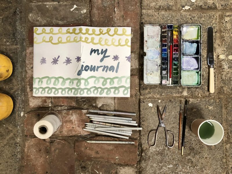Make a journal with Rachel Hazell - finished project