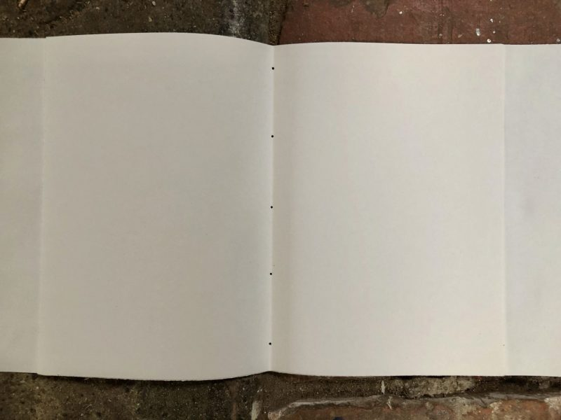 Make a journal - step five - mark five holes