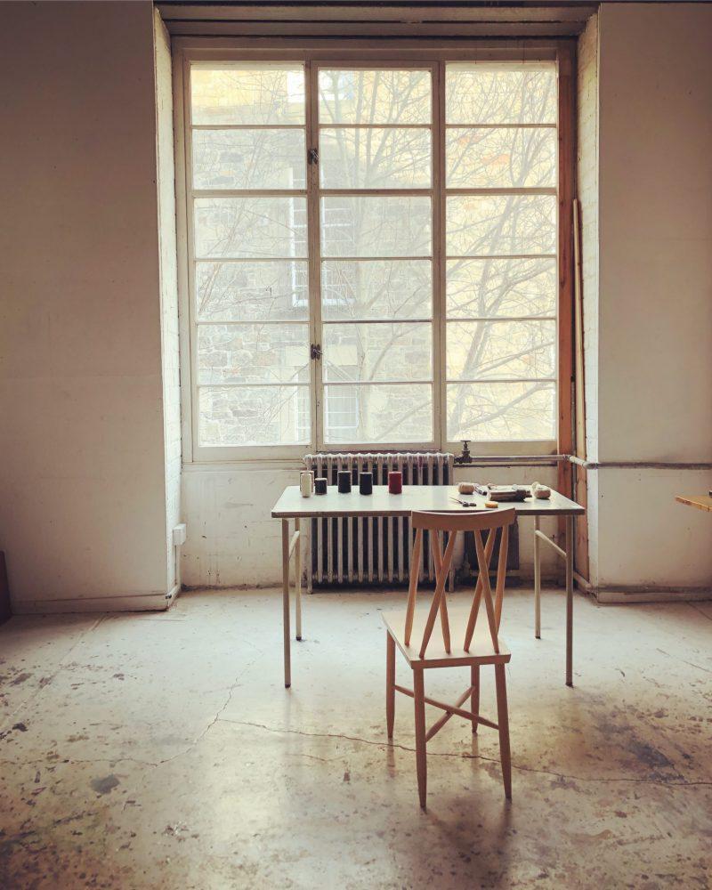 The Travelling Bookbinder film shoot. The Travelling Bookbinder's Edinburgh studio