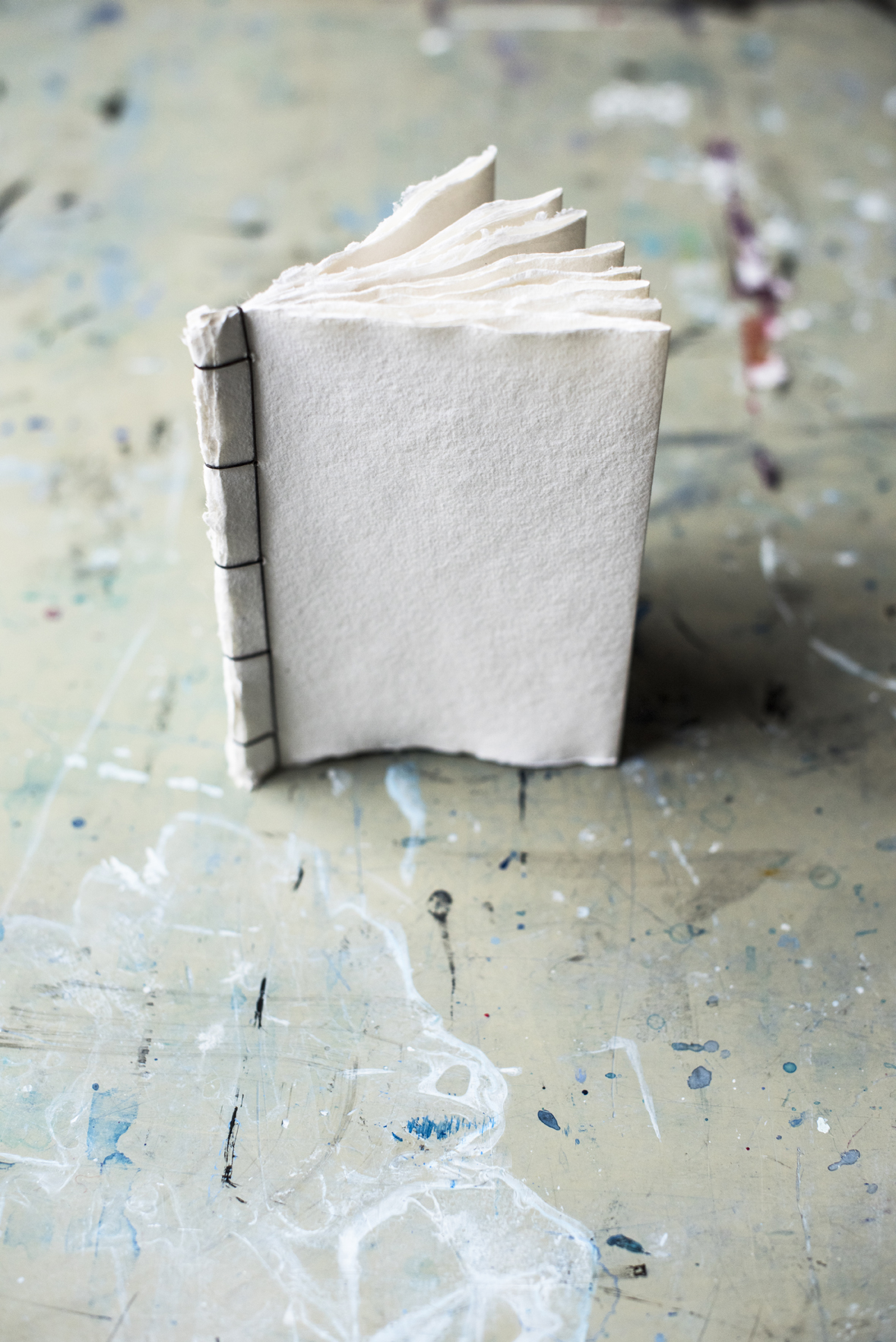 Finished Japanese Stab Binding from Bound: 15 Beautiful Bookbinding Projects by Rachel Hazell