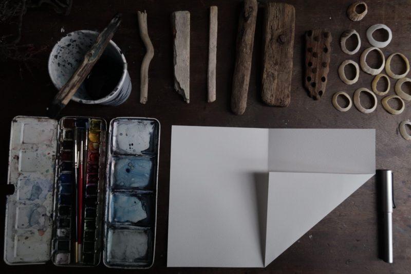 The Travelling Bookbinder: Mailart Origami Envelope. Second fold