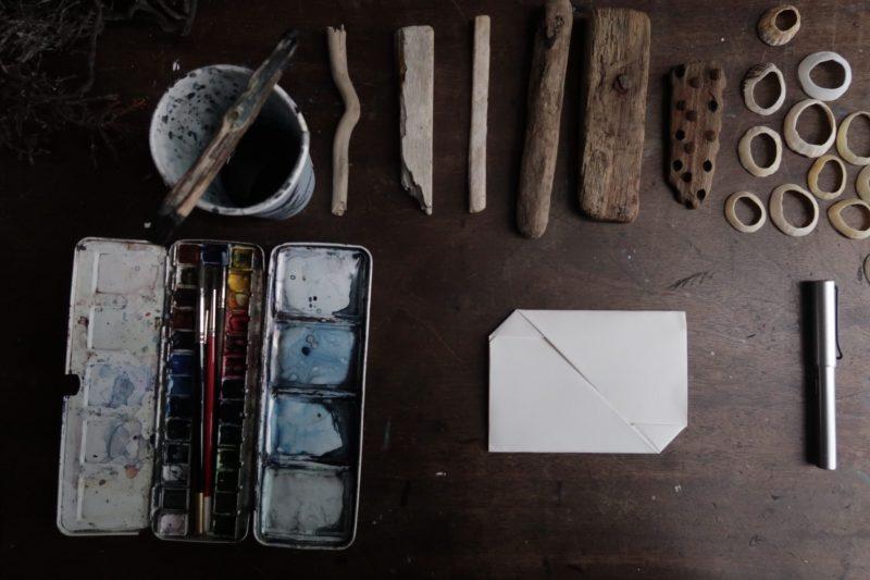 The Travelling Bookbinder: Mailart Origami Envelope. Finished blank envelope