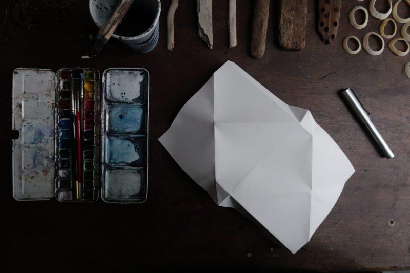 The Travelling Bookbinder: Mailart Origami Envelope. Unfold