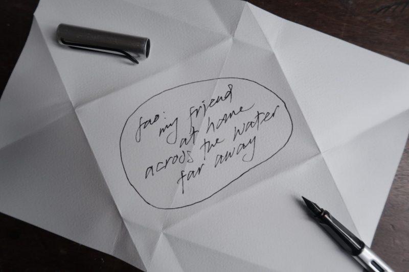 The Travelling Bookbinder: Mailart Origami Envelope. Add address