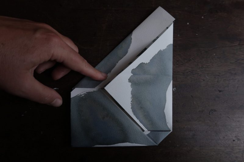 The Travelling Bookbinder: Mailart Origami Envelope. Refold