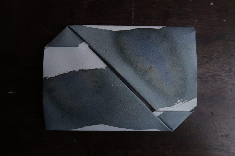 The Travelling Bookbinder: Mailart Origami Envelope. Finished envelope