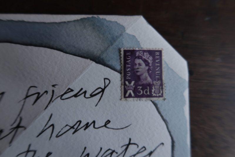 The Travelling Bookbinder: Mailart Origami Envelope. Add stamp