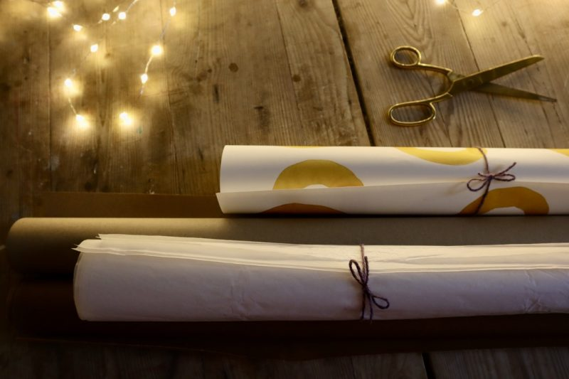 Rolls of paper for WrapLove - use what you have to hand!