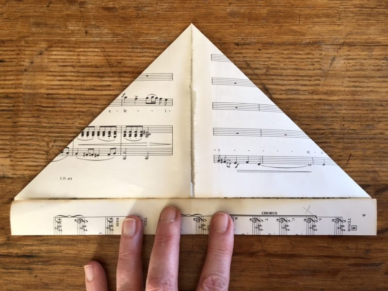 The Travelling Bookbinder: Heart Confetti: Like a sailor hat