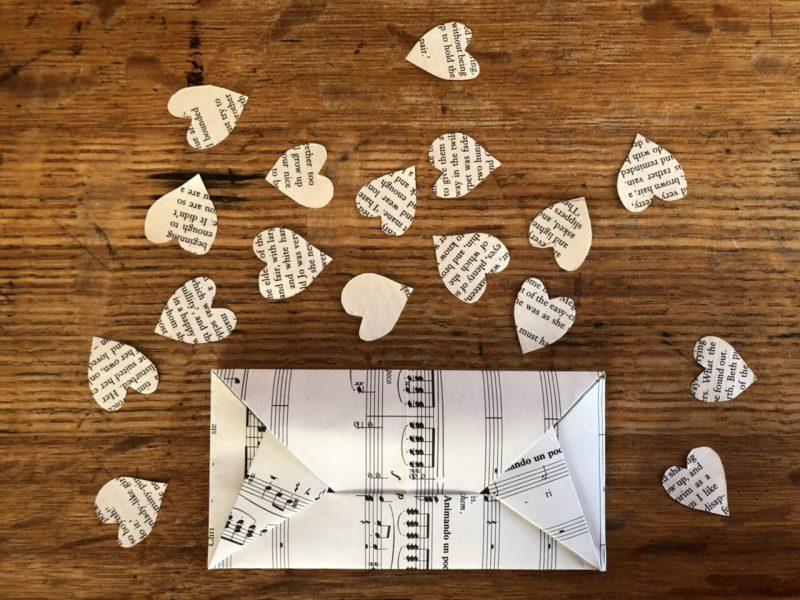 The Travelling Bookbinder: Heart Confetti: Add confetti