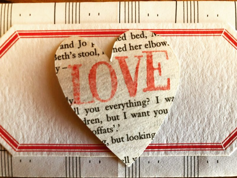The Travelling Bookbinder: Heart Confetti: Paperlove close up