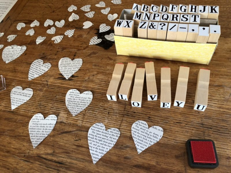 The Travelling Bookbinder: Heart Confetti: Alphabet stamps