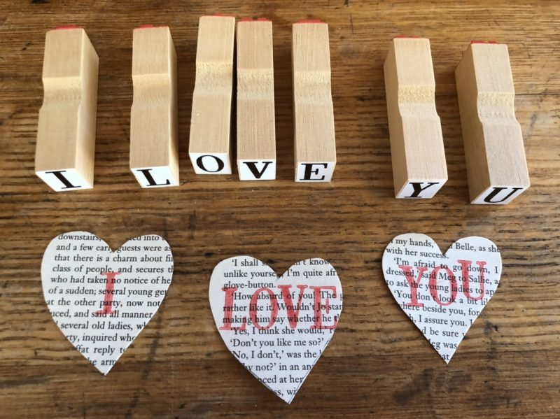 The Travelling Bookbinder: Heart Confetti: I Love You
