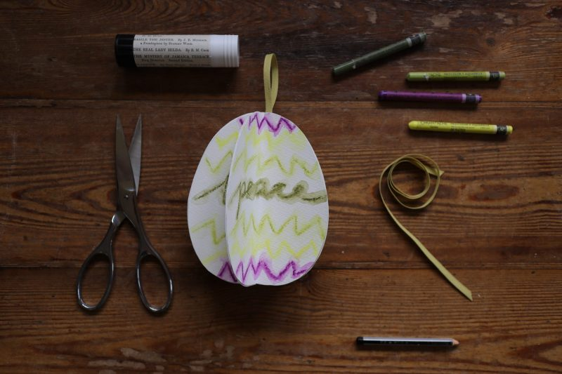 The Travelling Bookbinder: How to project: Egg book. Peace. Finished!