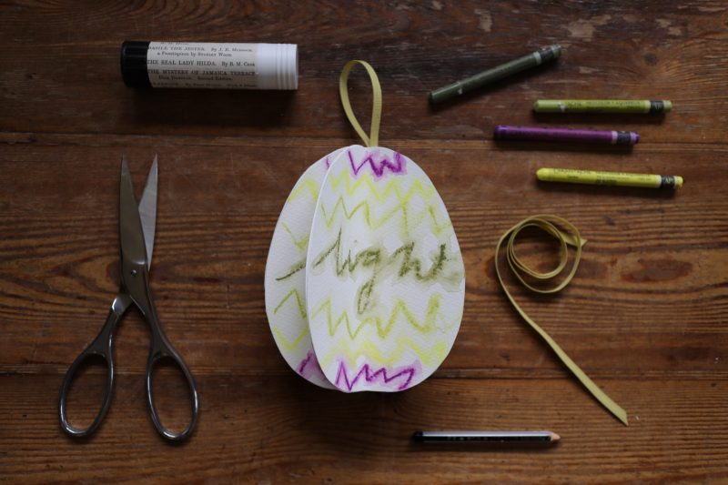 The Travelling Bookbinder: How to project: Egg book. Light