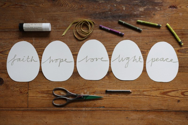 The Travelling Bookbinder: How to project: Egg book. Write positive words