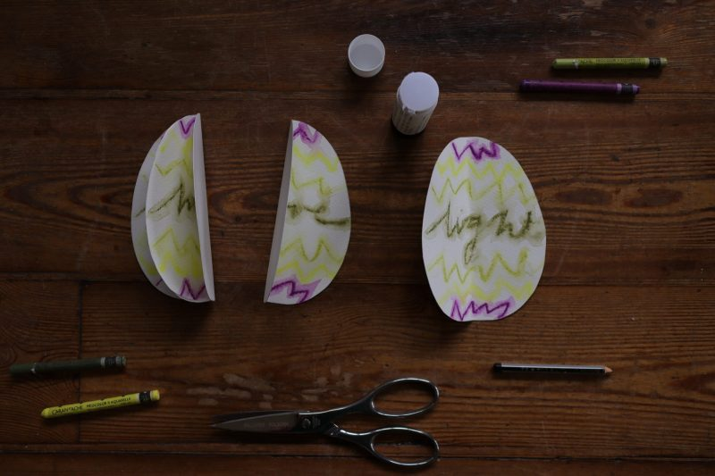 The Travelling Bookbinder: How to project: Egg book. Glue the blank sides together