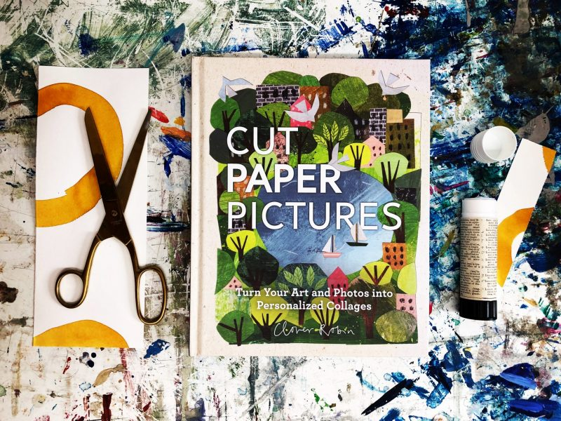 The Travelling Bookbinder: Book Review: Cut Paper Pictures, by Clover Robin. Collage guide